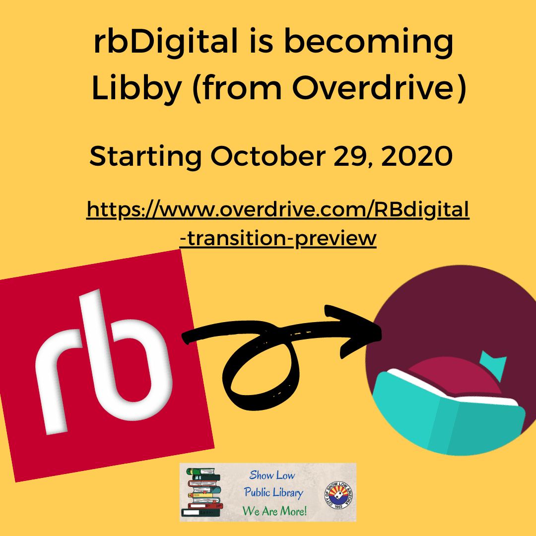 rbDigital is becoming Libby (from Overdrive)