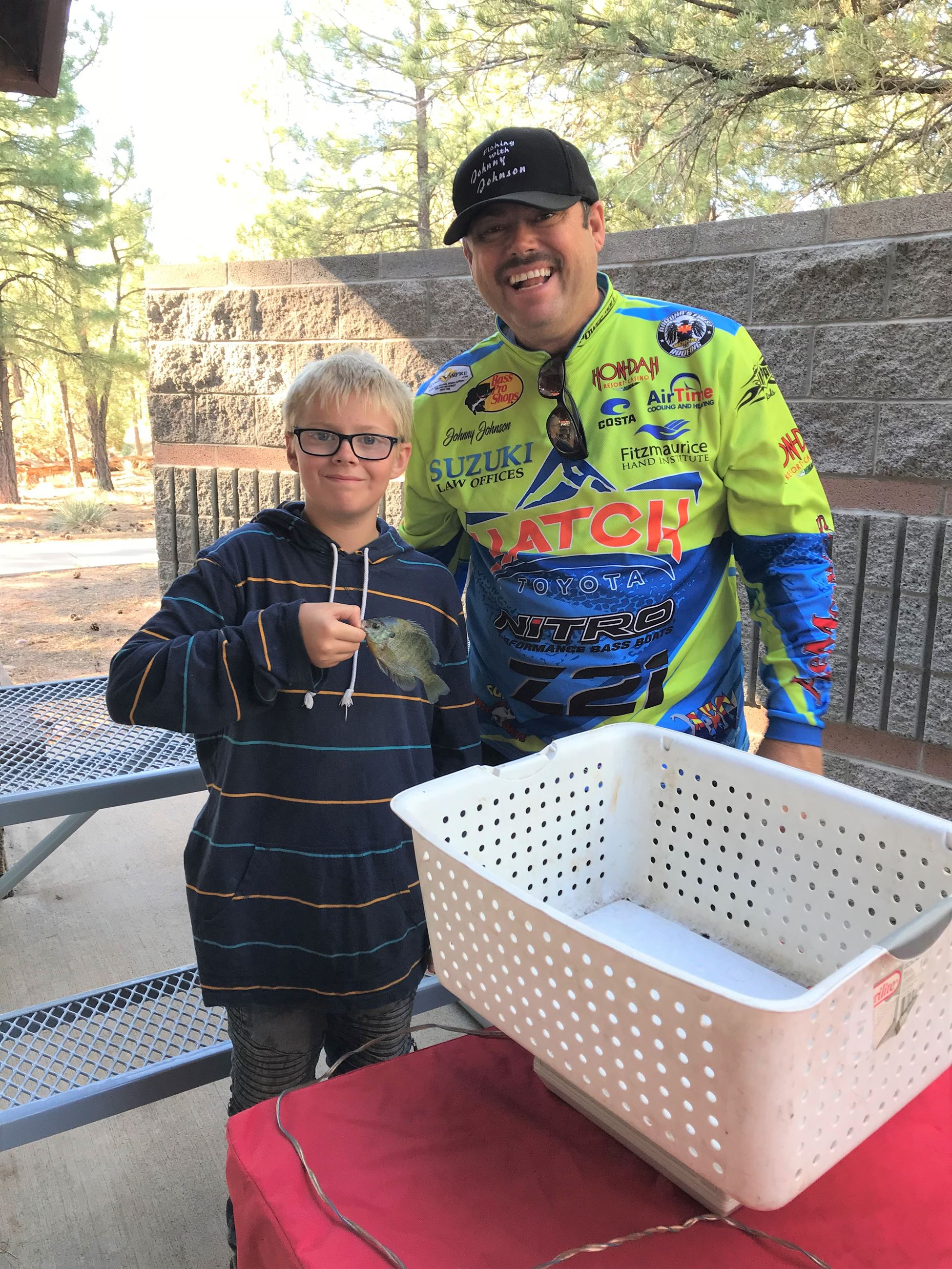 successful angler and official weighmaster Johnny Johnson 2018